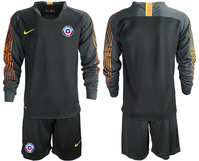 2018-19 Chile Black Long Sleeve Goalkeeper Soccer Jersey