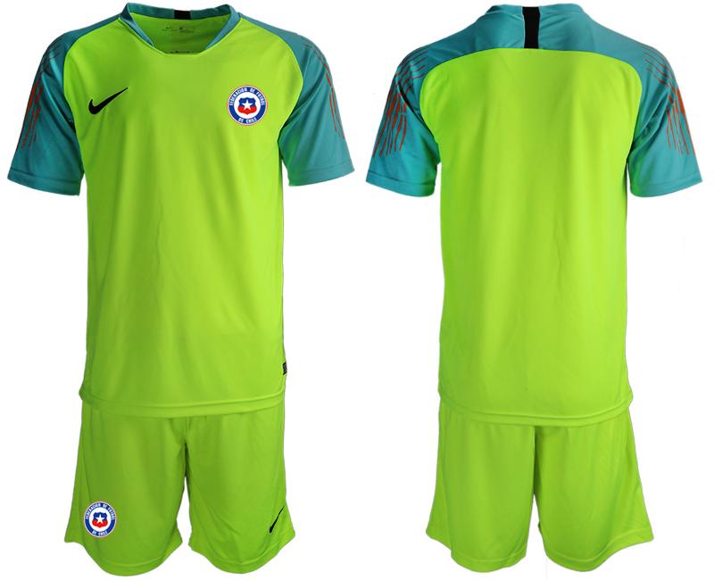 2018-19 Chile Fluorescent Green Goalkeeper Soccer Jersey
