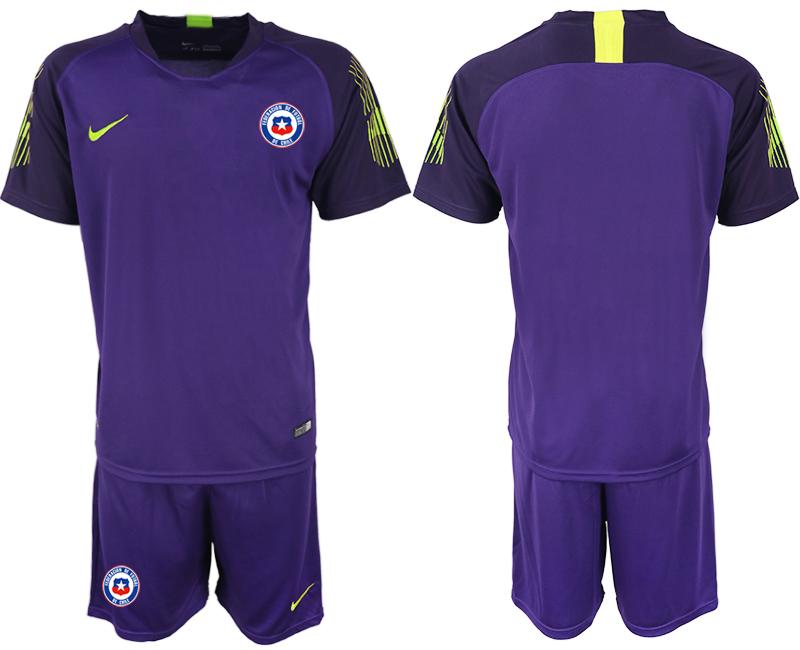 2018-19 Chile Purple Goalkeeper Soccer Jersey