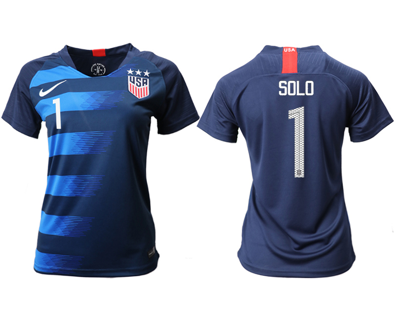 2018-19 USA 1 SOLO Away Women Soccer Jersey