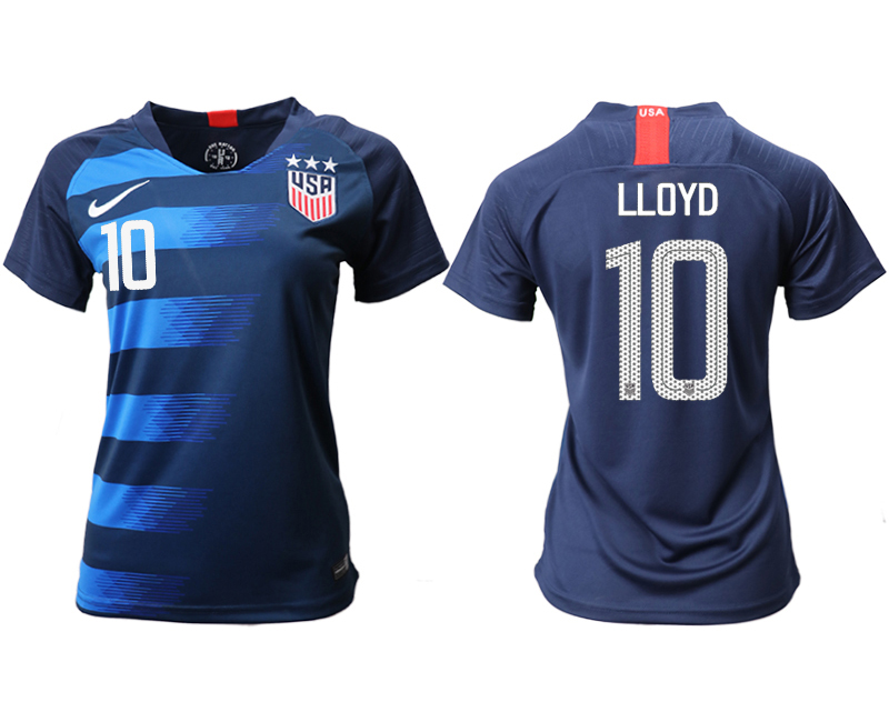 2018-19 USA 10 LLOYD Away Women Soccer Jersey
