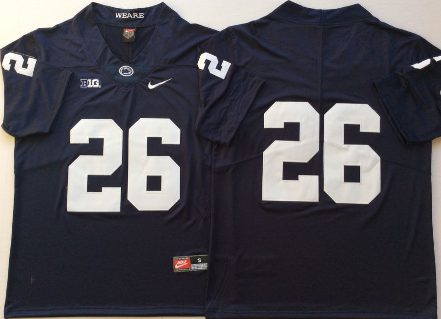 Penn State Nittany Lions 26 Saquon Barkley Navy Youth College Football Jersey