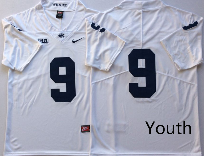 Penn State Nittany Lions 9 Trace McSorley White Youth Nike College Football Jersey