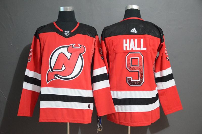Devils 9 Taylor Hall Red Drift Fashion Adidas Jersey