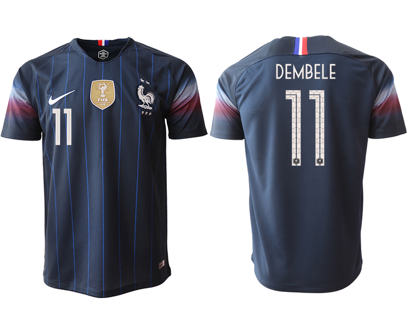 2018-19 France 11 DEMBELE Home Thailand Soccer Jersey