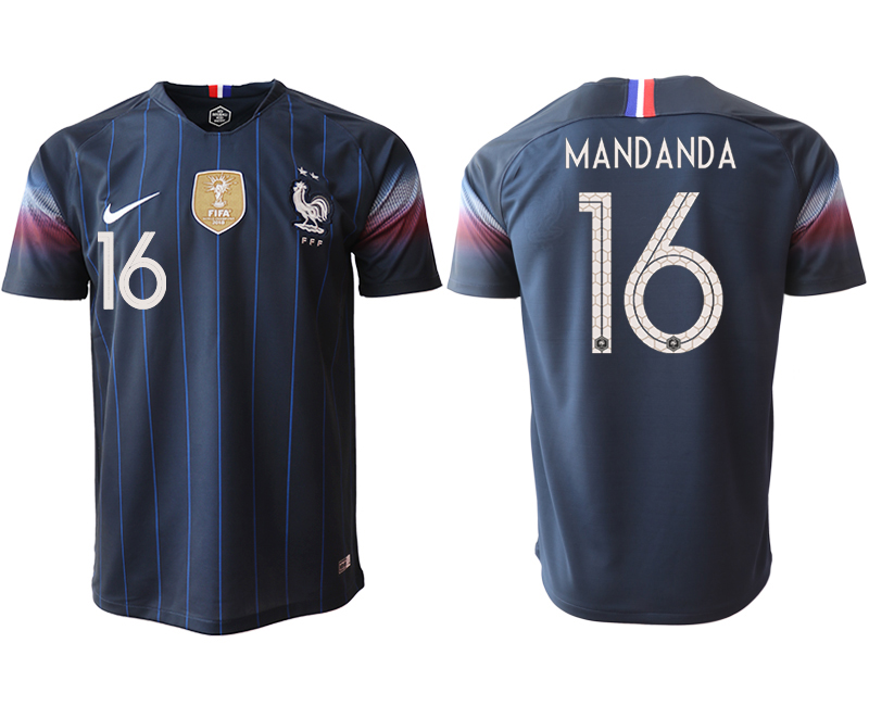 2018-19 France 16 MANDANDA Home Thailand Soccer Jersey