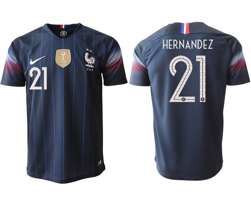 2018-19 France 21 HERNANDEZ Home Thailand Soccer Jersey