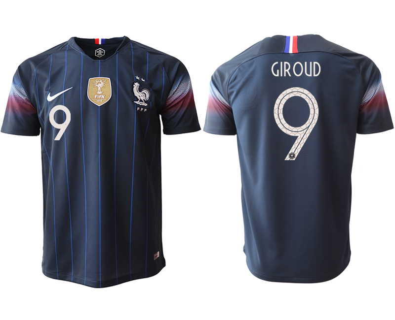 2018-19 France 9 GIROUD Home Thailand Soccer Jersey