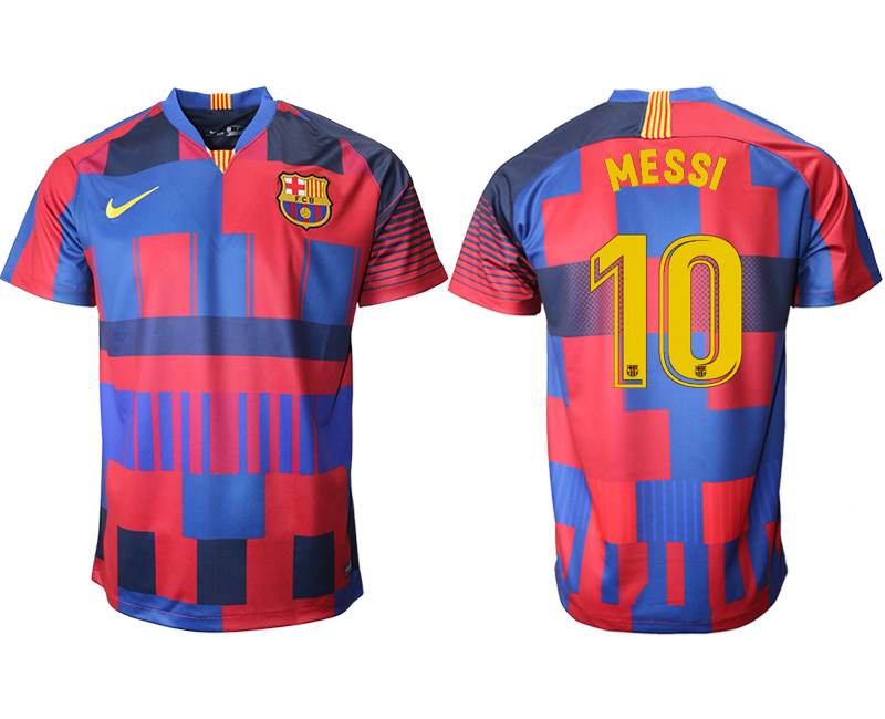 2018-19 Barcelona 10 MESSI 20th Anniversary Stadium Soccer Jersey