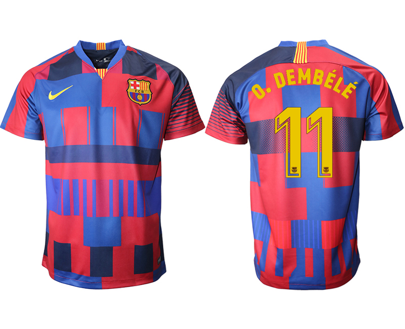 2018-19 Barcelona 11 O.DEMBELE 20th Anniversary Stadium Soccer Jersey