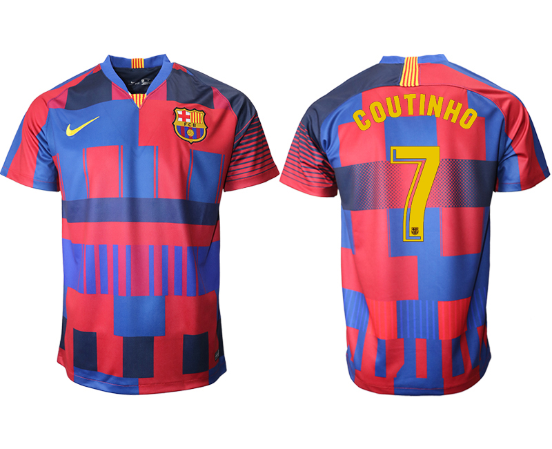 2018-19 Barcelona 7 COUTINHO 20th Anniversary Stadium Soccer Jersey