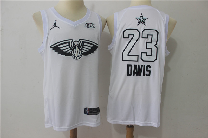 Pelicans 23 Anthony Davis White 2018 All-Star Game Swingman Jersey