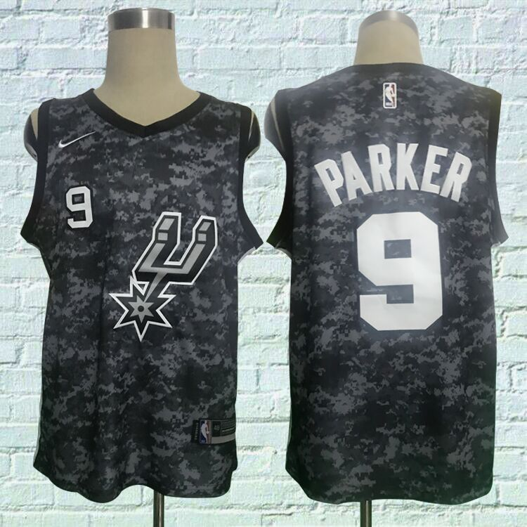 Spurs 9 Tony Parker Black City Edition Nike Swingman Jersey