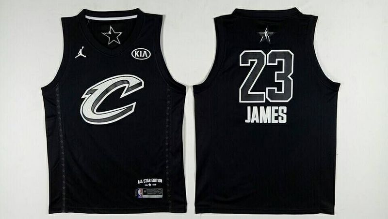 Cavaliers 23 Lebron James Black 2018 All-Star Game Jordan Brand Authentic Jersey
