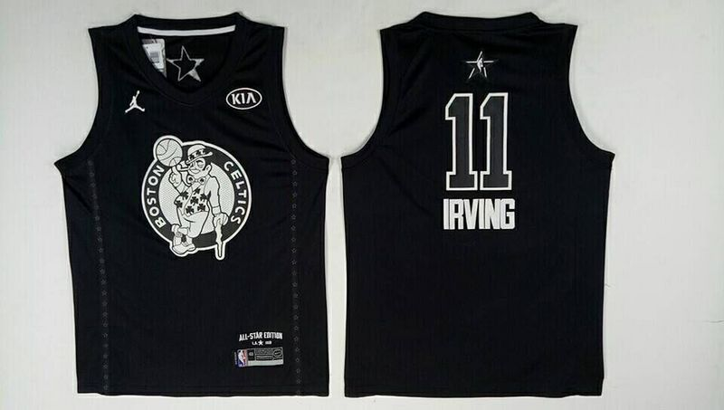 Celtics 11 Kyrie Irving Black 2018 All-Star Game Jordan Brand Authentic Jersey