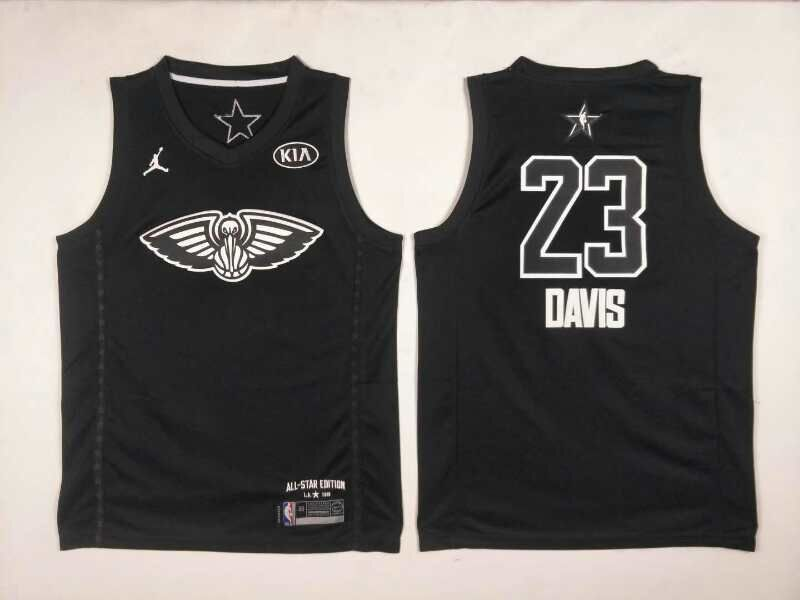 Pelicans 23 Anthony Davis Black 2018 All-Star Game Jordan Brand Authentic Jersey