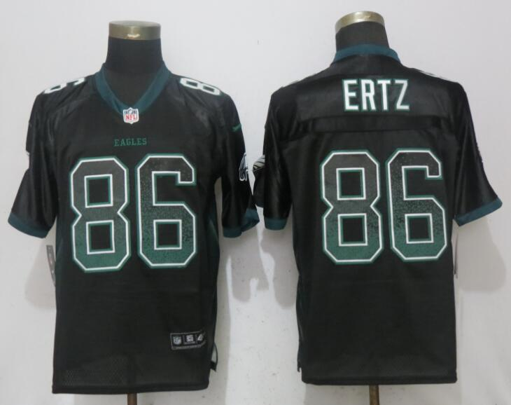 Nike Eagles 86 Zach Ertz Black Drift Fashion Elite Jersey