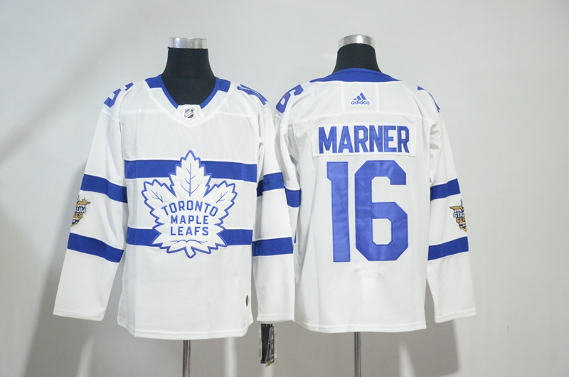 Maple Leafs 16 Mitchell Marner White 2018 NHL Stadium Series Adidas Jersey