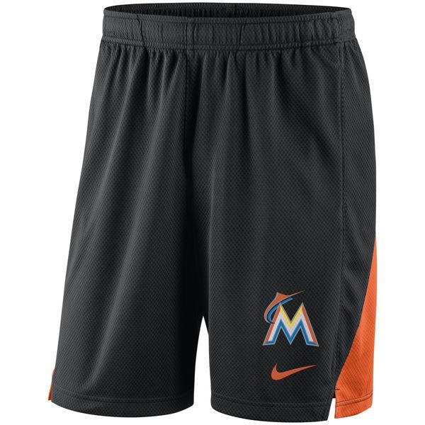 Men's Miami Marlins Nike Black Franchise Performance Shorts