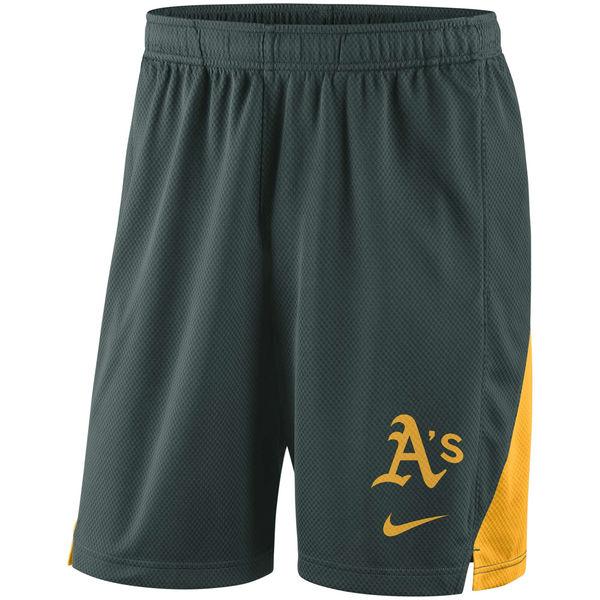 Men's Oakland Athletics Nike Green Franchise Performance Shorts