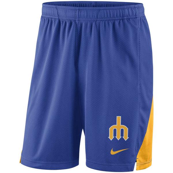Men's Seattle Mariners Nike Royal Franchise Performance Shorts