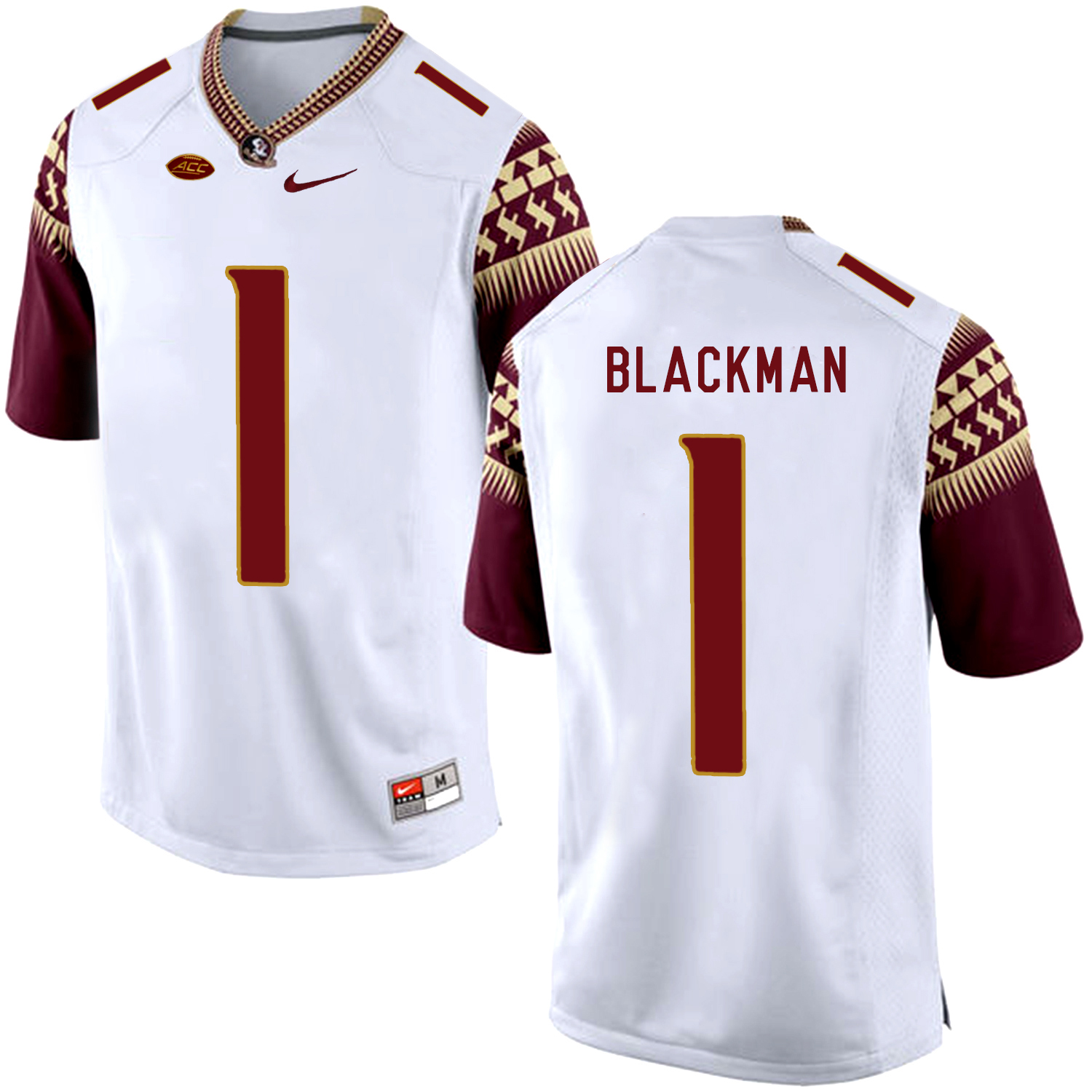 Florida State Seminoles 1 James Blackman White College Football Jersey