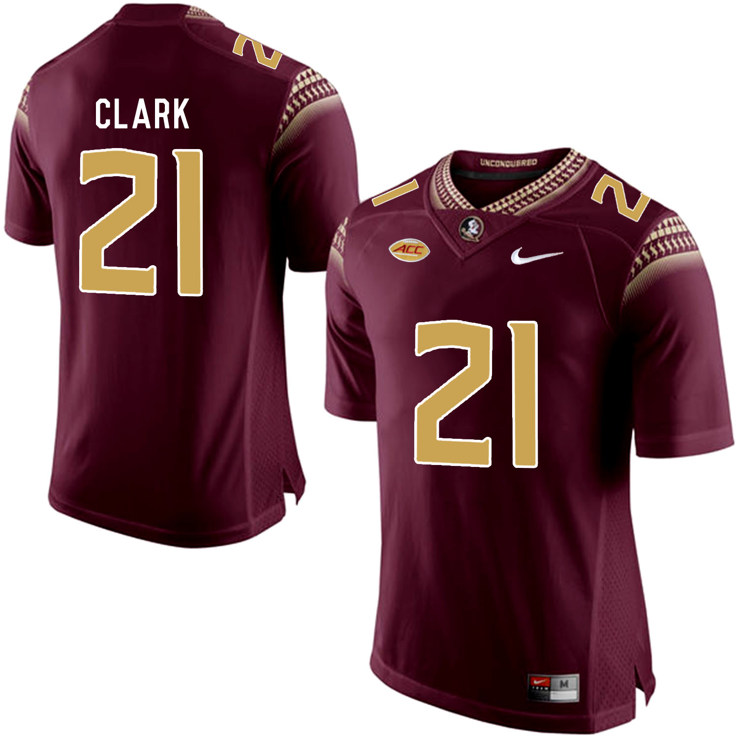 Florida State Seminoles 21 Corey Clark Marroon College Football Jersey