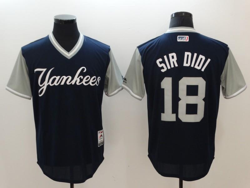 Yankees 18 Didi Gregorius Sir Didi Majestic Navy 2017 Players Weekend Jersey