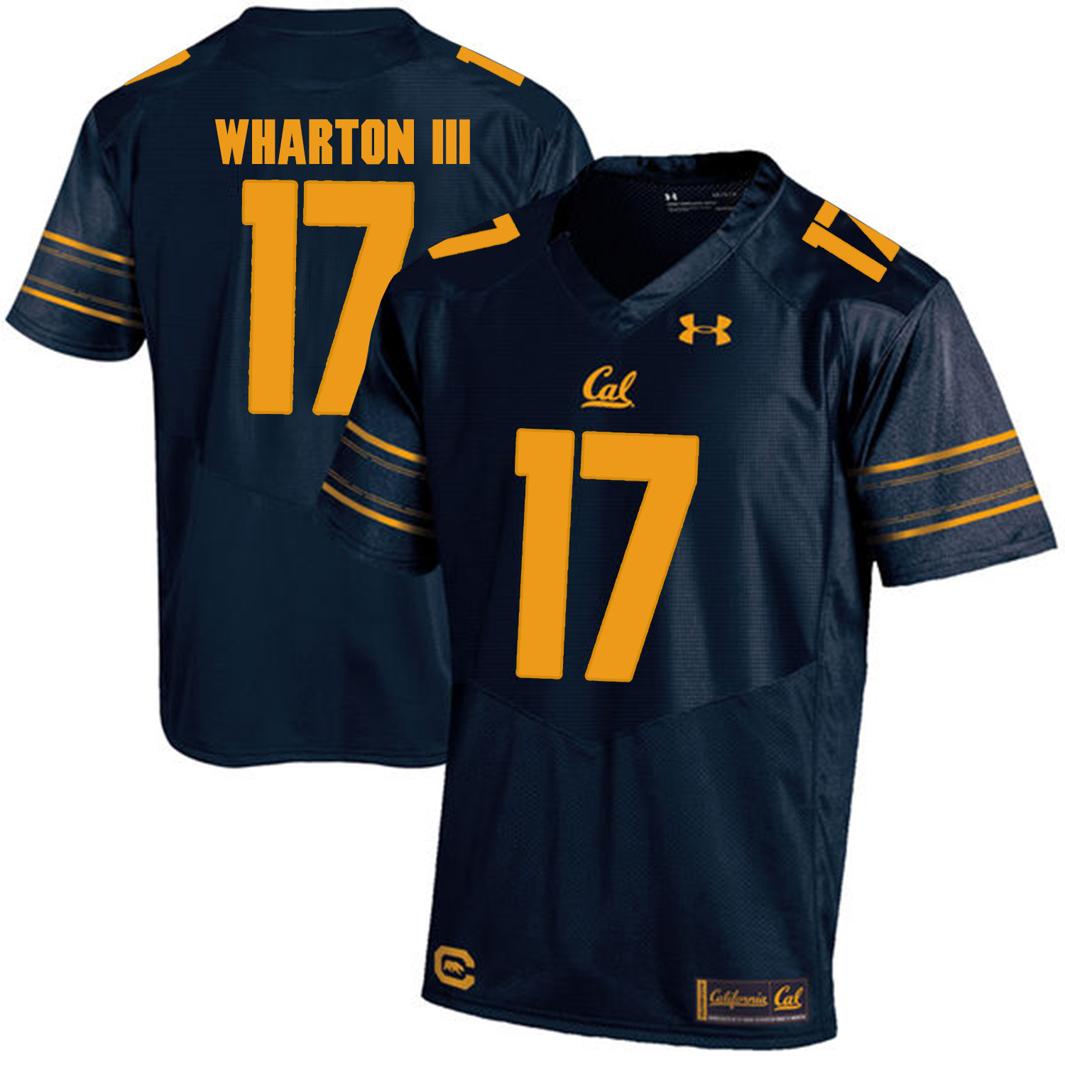 California Golden Bears 17 Vic Wharton III Navy College Football Jersey