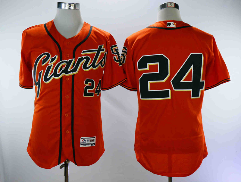 Giants 24 Willie Mays Orange Flexbase Jersey