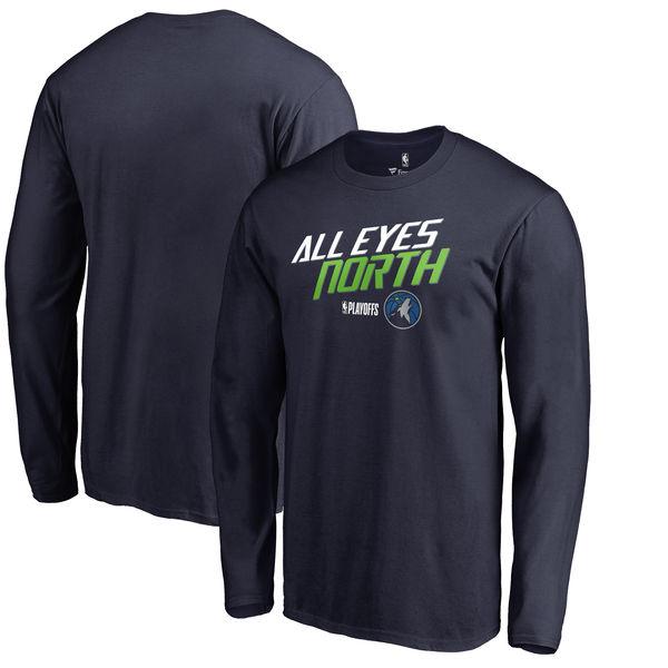 Minnesota Timberwolves Fanatics Branded 2018 NBA Playoffs Slogan Long Sleeve T-Shirt Navy