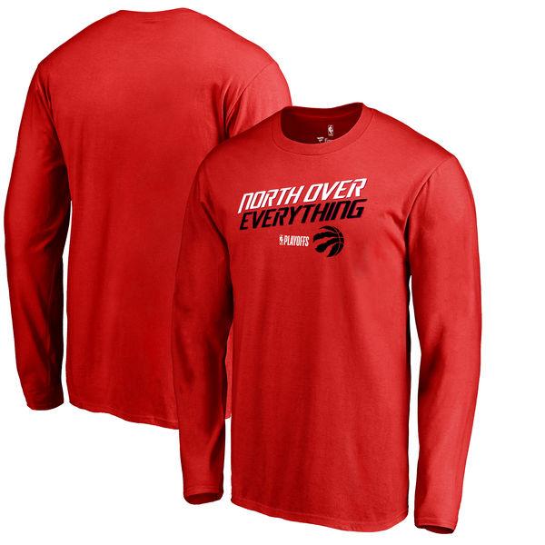Toronto Raptors Fanatics Branded 2018 NBA Playoffs Slogan Long Sleeve T-Shirt Red
