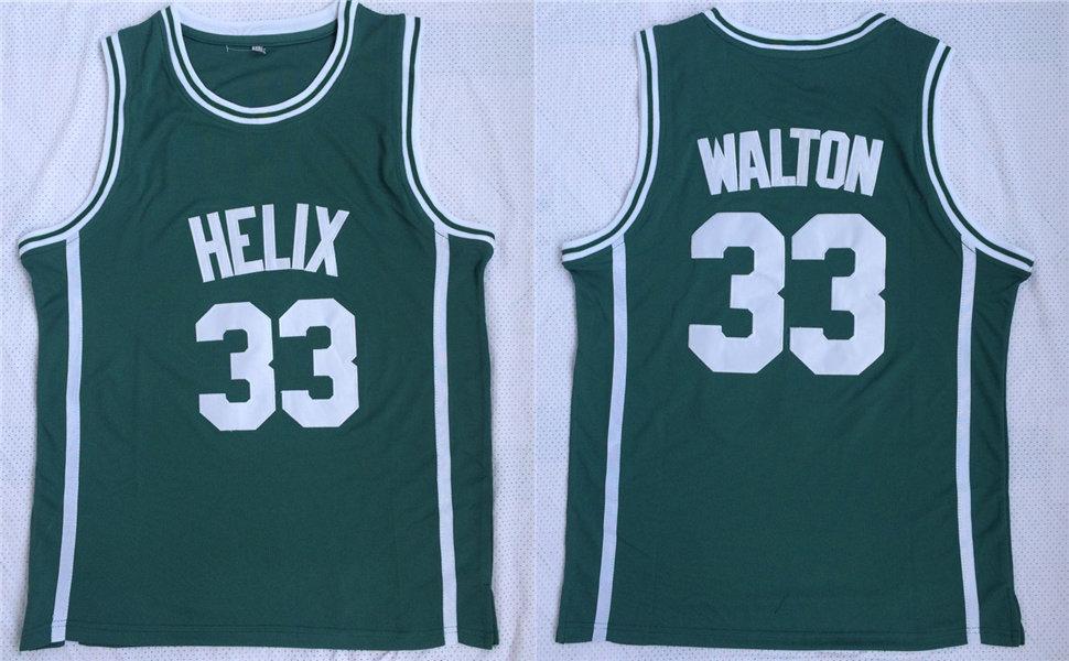 Helix High School 33 Bill Walton Green Basketball Jersey