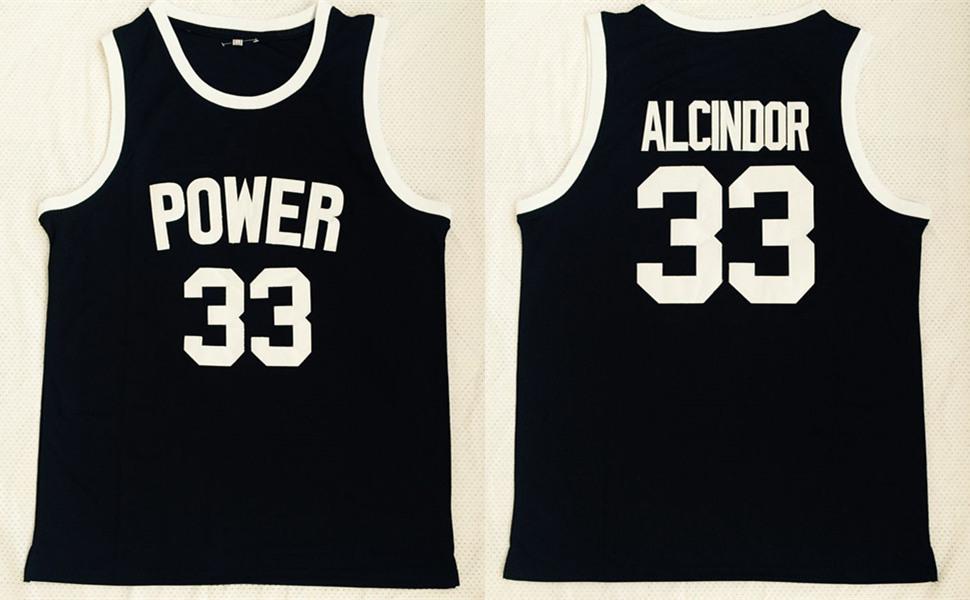 Power Memorial High School 33 Kareem Abdul-Jabbar Black Basketball Jersey