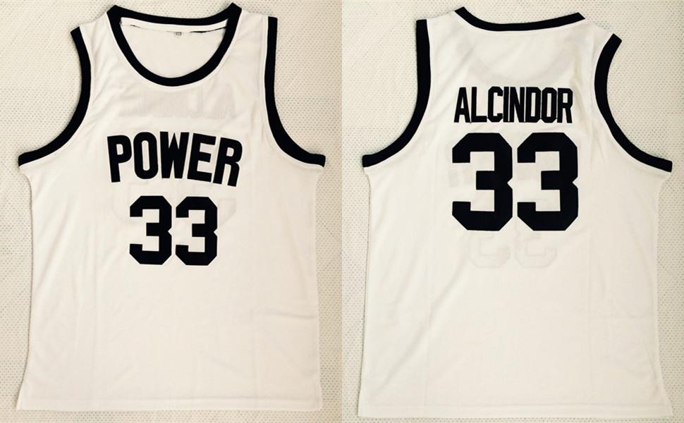 Power Memorial High School 33 Kareem Abdul-Jabbar White Basketball Jersey