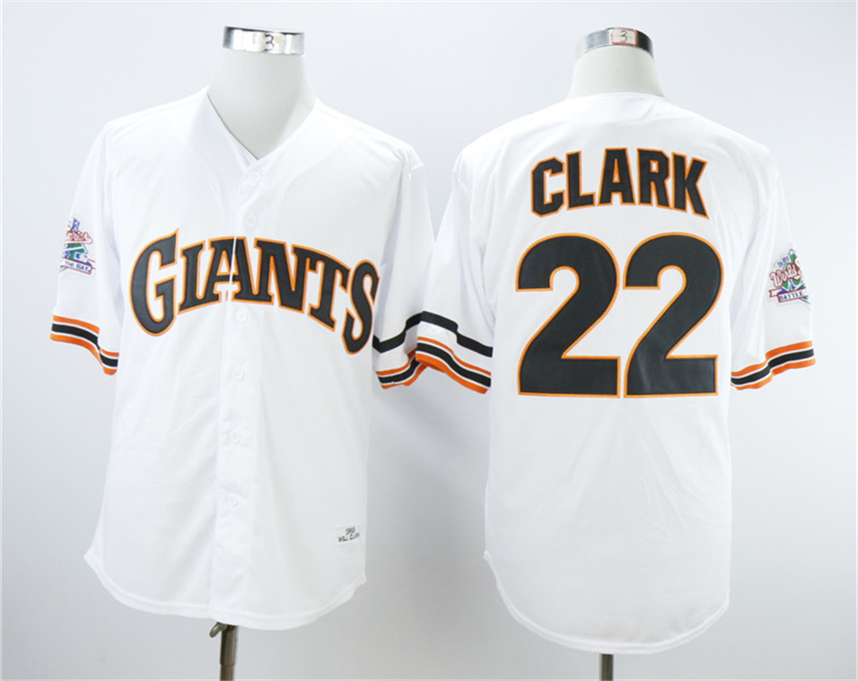 Giants 22 Will Clark 1989 Throwback Jersey