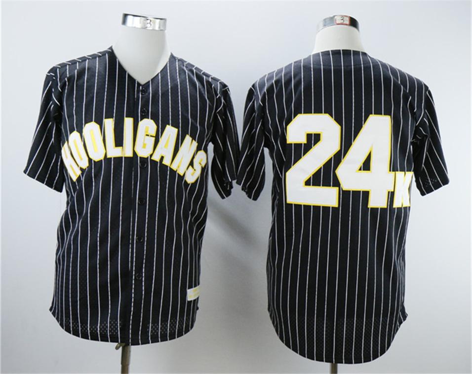 Hooligans 24K Bruno Mars Black Baseball Jersey