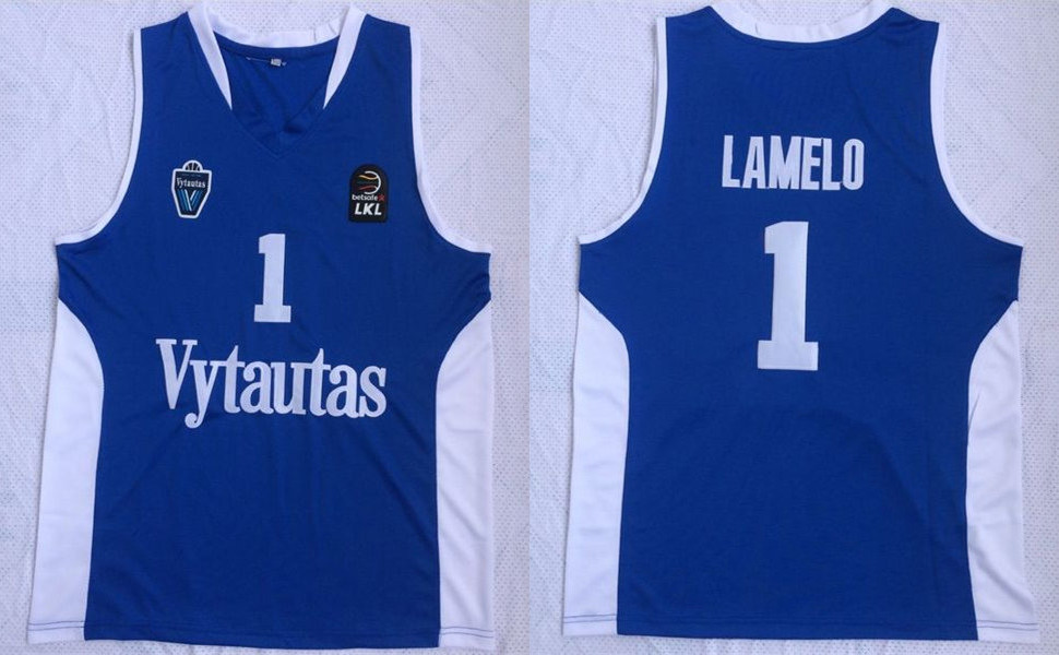 BC Prienai 1 Lamelo Ball Blue Basketball Jersey