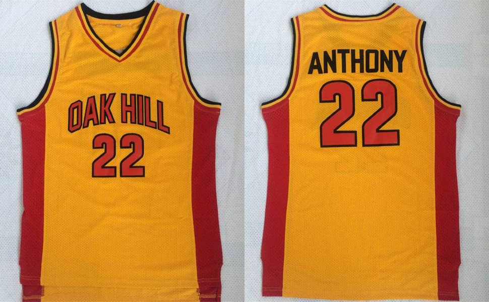 Oak Hill 22 Carmelo Anthony Yellow High School Basketball Jersey