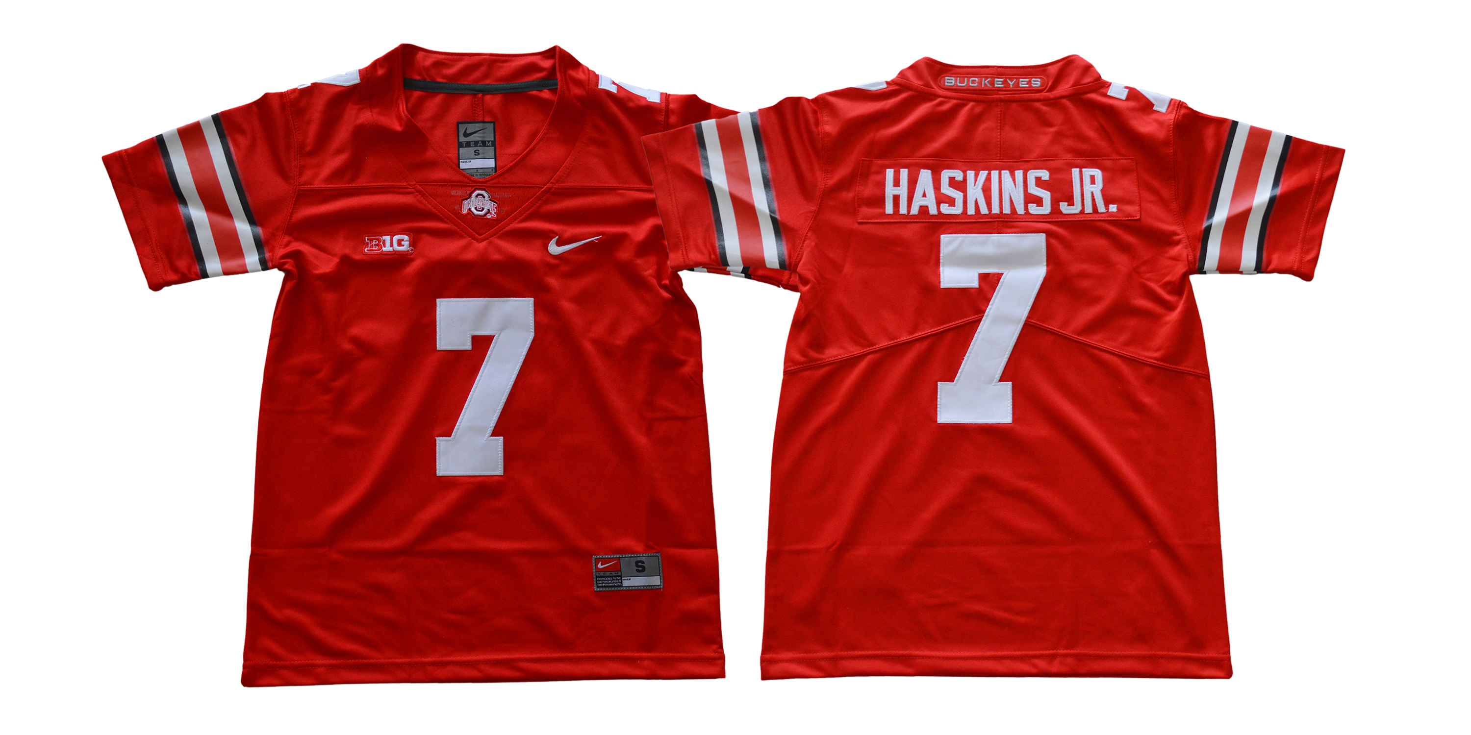 Ohio State Buckeyes 7 Dwayne Haskins Jr. Red Youth College Football Jersey