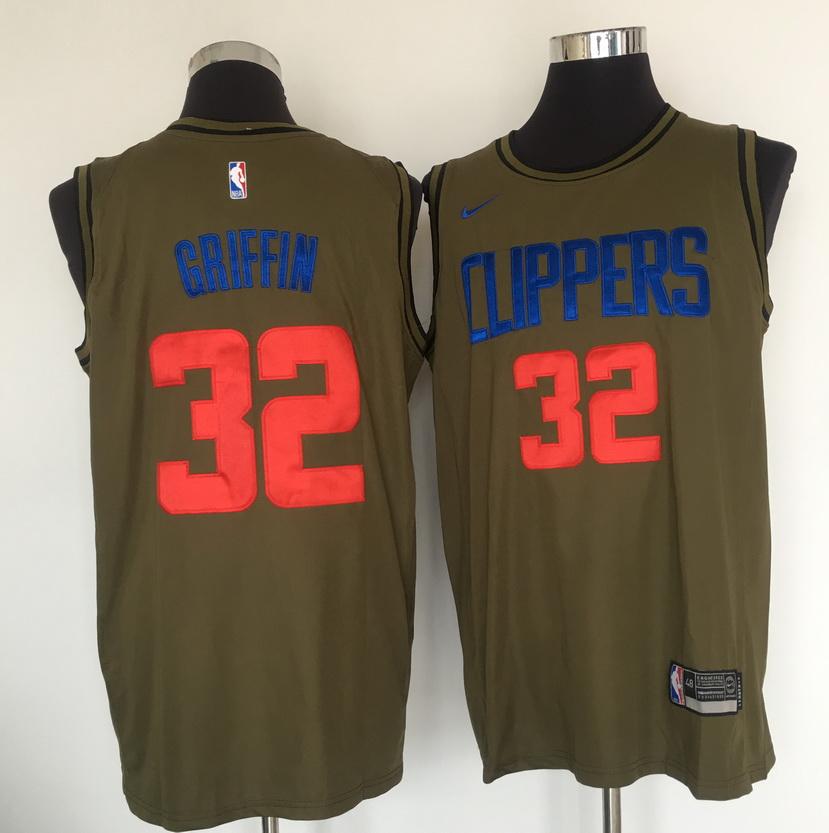 Clippers 32 Blake Griffin Olive Nike Swingman Jersey