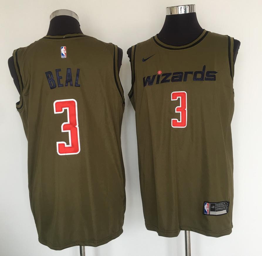 Wizards 3 Bradley Beal Olive Nike Swingman Jersey