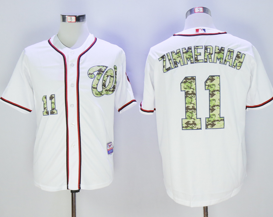 Nationals 11 Ryan Zimmerman White Camo Cool Base Jersey