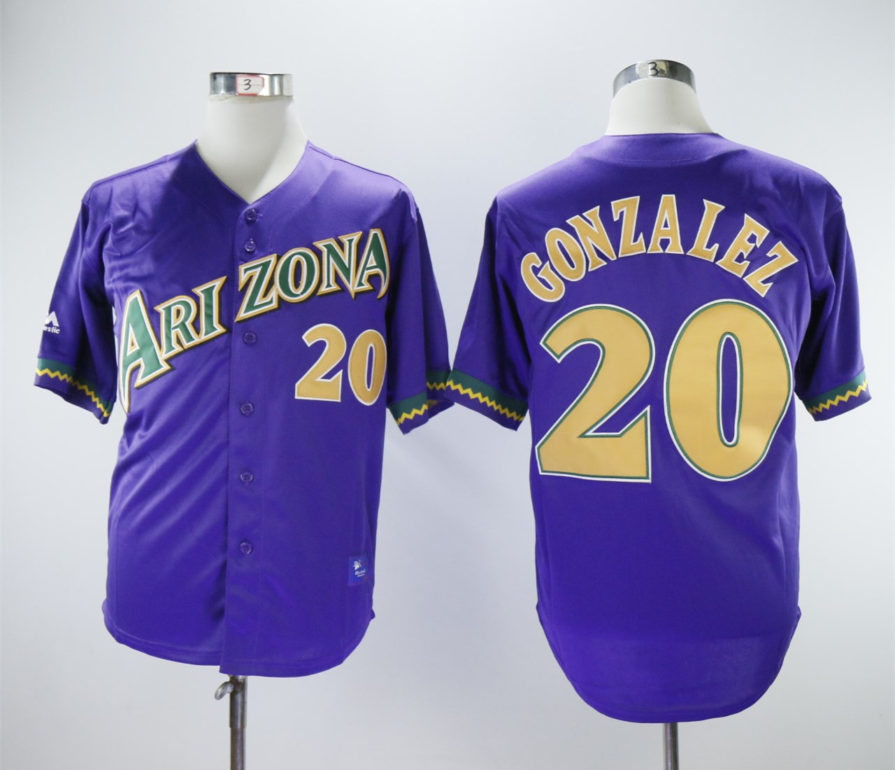 Diamondbacks 20 Luis Gonzalez Purple Cool Base Jersey