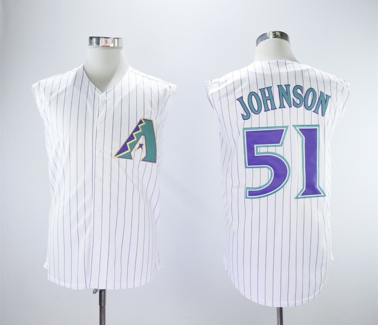 Diamondbacks 51 Randy Johnson White Turn Back The Clock Sleeveless Jersey