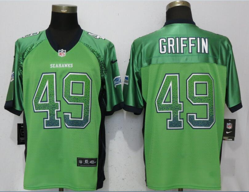 Nike Seahawks 49 Shaquill Griffin Green Drift Fashion Elite Jersey