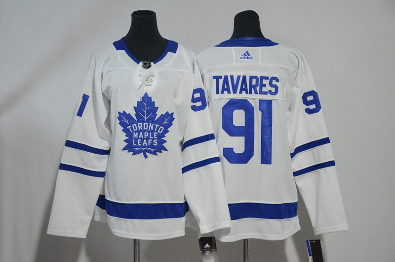 Maple Leafs 91 John Tavares White Youth Adidas Jersey