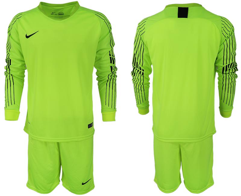 2018-19 USA Fluorescent Green Goalkeeper Long Sleeve Soccer Jersey.png