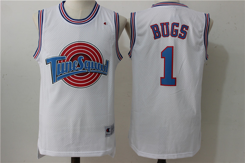 "Tune Squad 1 ""Bugs"" White Stitched Movie Jersey"