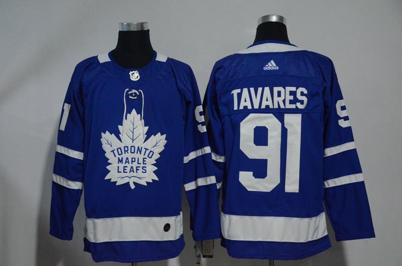Maple Leafs 91 John Tavares Blue Adidas Jersey